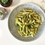vegan broccoli pesto pasta recipe