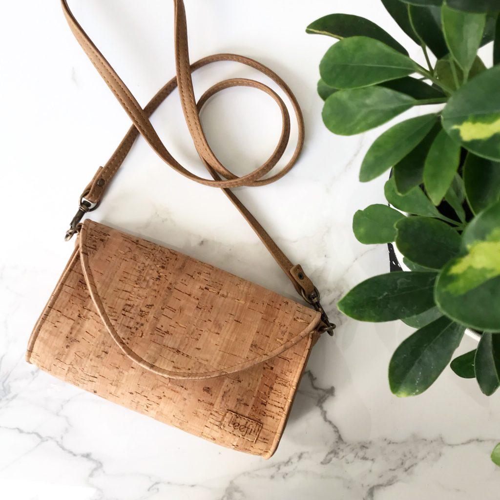 vegan cork handbag